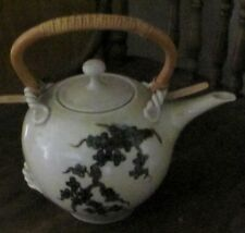 hand painted teapot, artist signed