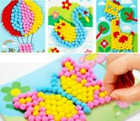 Toys Puzzle Baby Kids Plush Ball Painting Stickers Children Educational Handmade
