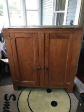 Vintage Antique Old Quarter Sawn Oak Cabinet Drawer Pie Safe