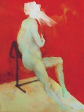"""NEW ORIGINAL CHIHO IWASE  """"Fear of Power"""" drama nude  ACRYLIC CANVAS PAINTING"""