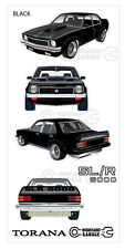 Holden LX Torana A9X SLR 5000 Sedan - Medium Sticker Set - Please advise colour