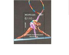 BLK00334 Nicaragua artistic gymnastics block