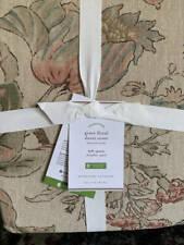 New~Pottery Barn Grace Floral Linen Texture Duvet Cover~Full Queen