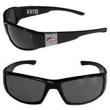 Denver Broncos NFL Chrome Black Football Sports Sun Glasses (new)