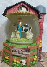 Old MacDonald's Farm Silvestri Musical Snow Globe Cow Duck Pig Dog Sheep Farmer