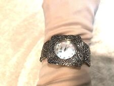 OR PAZ STERLING SILVER SQUARE FACE WATCH 35.0g (M1160-98)