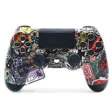 SONY DUALSHOCK 4 WIRELESS CONTROLLER CUSTOM FOR PS4 STICKER BOMB CHROME BUTTONS