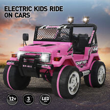 Ride On Cars Jeep 12V Electric Kids Toys Head Lights W/Remote Control 3 Speeds