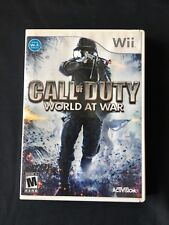 Call of Duty: World at War (Nintendo Wii, 2008) COMPLETE PREOWNED EXCELLENT USED