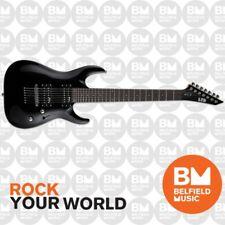 ESP LTD MH-17 MH-Series Electric Guitar 7-String Black w/ Soft Gig Bag- BM