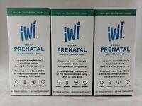 (3 PACK) EXP 03/21 iWi Vegan Prenatal Multivitamin + DHA 60 Vegan Softgels Each