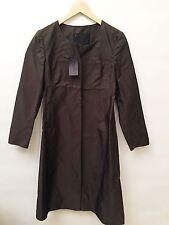 NWT Prada Size 38 Ladies Brown Silk Coat