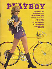 AUGUST 1971 PLAYBOY  1ST FOOTBALL REVIEW George McGovern Cathleen Lynn Rowland