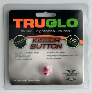 New! Tru-Glo Kisser Button For Bows Pink Bowhunting Archery Model TG73D