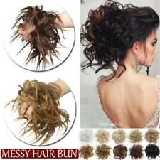 US Real Thick Messy Bun Hair Piece Scrunchie Updo Wrap Hair Extensions as Human