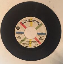 Roulette 45 Laurie London Four Jacks Pretty Eyed Baby Disc Jockey Not For Sale