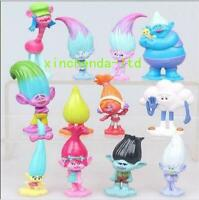 12pcs Gifts set Movie Trolls Poppy Branch Action Figures Cake Toppers Doll Toy