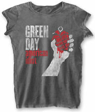 Green Day 'American Idiot Vintage' Womens Burnout T-Shirt - NEW & OFFICIAL!