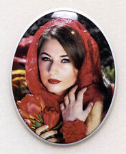 Porcelain 6x8Cm Ceramic Memorial Photo Plaque for Grave - Lifetime Guarantee