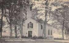Ashfield Massachusetts Episcopal Church Street View Antique Postcard K53891