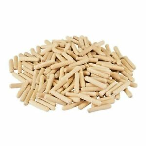 WOODEN DOWELS 10MM X 40MM FLUTED/CHAMFERRED PACK OF 10