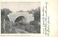 Charles City Iowa Greenhouses Shermans Bridge Antique Postcard K83014