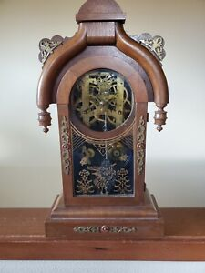 Antique New Haven Chiming Skeleton Clock