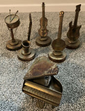 Vintage Copper Brass Tin 'Antique' Instrumentals Wind-up Music Boxes