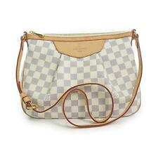 Authentic LOUIS VUITTON Damier azur Siracusa PM N41113  #270-002-124-7382