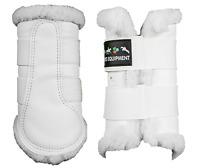HKM Faux Fur Lined Imitation Leather Smart Protction-Brushing Boots-White-FreePP