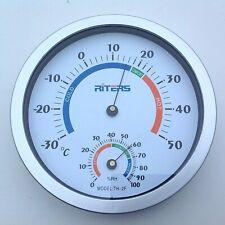Termometro Igrometro Da Parete Diametro 20 cm. Numeri Grandi Molto Visibili