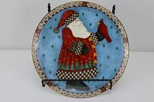 Royal Doulton Fine Bone China Plate A Christmas Greeting Santa Cardinal Signed #