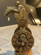 Wooden Horse Racing Clock
