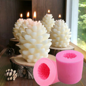 3D Christmas Tree Candle Baking Chocolate Soap Silicone Craft DIY Mould UK
