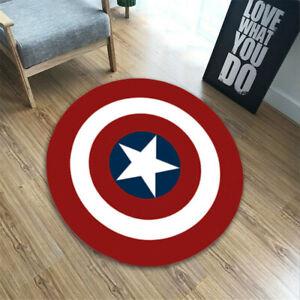 Captain America Rug Superhero Non Slip Floor Mat Avengers Carpet Bath Pad Decor