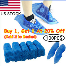 100/400PCS Home Boot Covers Plastic Blue Shoe Covers Overshoes Waterproof