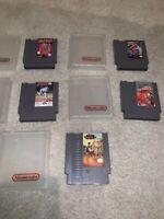 NES Nintendo LOT(5) w/ Plastic Cases Skate Die 2,Operation Wolf,Kings of Beach