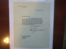 President Harry Truman 2020 Historic Autographs Loa Letter Auto Beckett Bas