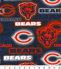 NFL CHICAGO BEARS - DOT 100% Cotton Fabric 1/4 yd, 9
