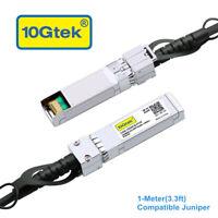 10G SFP+ DAC Cable 1m for Juniper Networks EX-SFP-10GE-DAC-1M, Twinax Passive