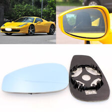 For Ferrari 458 Side View Door Mirror Blue Glass With Base Heated