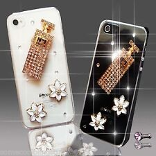 NEW DIAMANTE PERFUME FLOWER DIAMOND CASE COVER SAMSUNG iPHONE SONY HTC 5 6 S6 S5