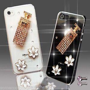 NEW DIAMANTE PERFUME FLOWER DIAMOND CASE COVER SAMSUNG iPHONE SONY HTC 5 6 S6 S5
