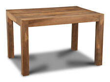 CUBE NATURAL SHEESHAM FURNITURE 120CM DINING TABLE (C17N)