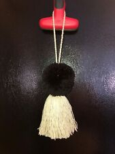 Black Pom Beige  Tassel Handmade Ethnic Bag Accessory For Nena Co Bags