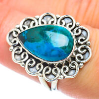 Chrysocolla 925 Sterling Silver Ring Size 7.25 Ana Co Jewelry R56846F