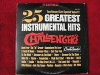 THE CHALLENGER'S 25 GREATEST INSTRUMENTAL HITS 1967 GNP CRESCENDO 2X VINYL LP EX