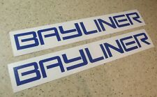 "Bayliner Vintage Boat Decal 12"" Blue Die-Cut 2-PAK FREE SHIP + FREE Fish Decal!"