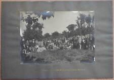 FOTOGRAFIA ANTICA CIVITANOVA MARCHE ADUNATA COMBATTENTI MUTILATI ANNI '40 GUERRA