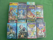 "Lot de 15 cassettes ""11 K7 VHS Walt Disney"" Cartoons Superman Ninja Le bossu"